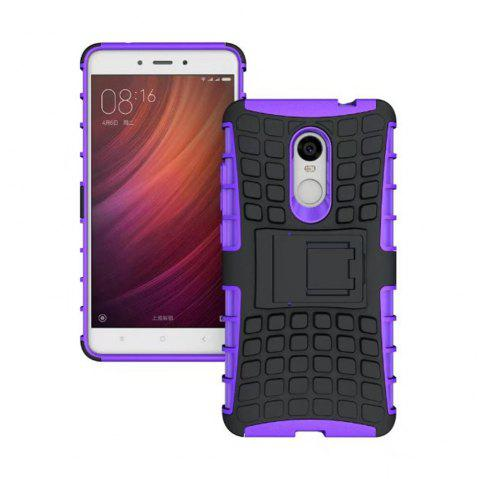 Rugged Spider Armor Heavy Duty Hybrid TPU Silicone Stand Impact Cover for Xiaomi RedMi Note 4 Case - PURPLE