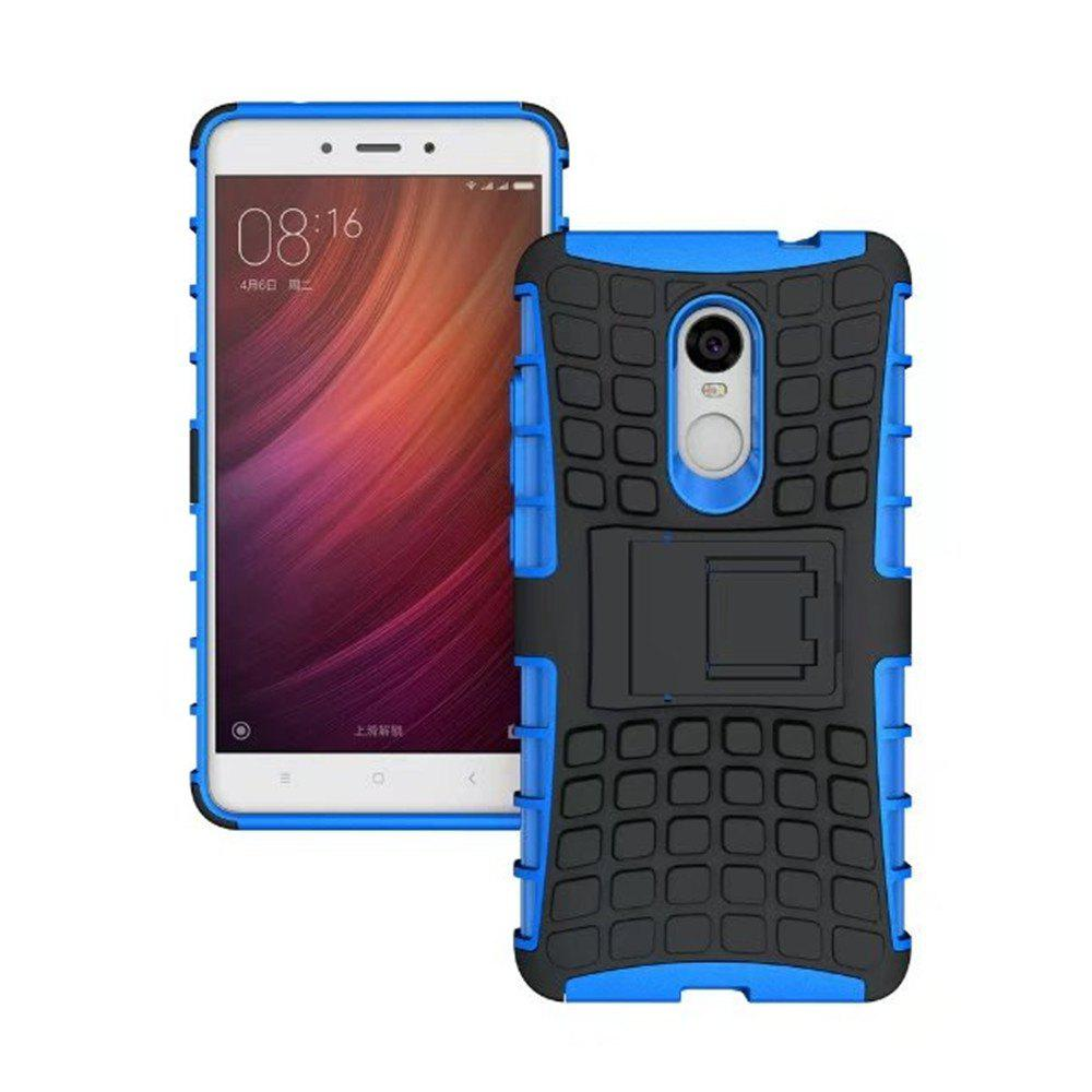 Rugged Spider Armor Heavy Duty Hybrid TPU Silicone Stand Impact Cover for Xiaomi RedMi Note 4 Case - BLUE