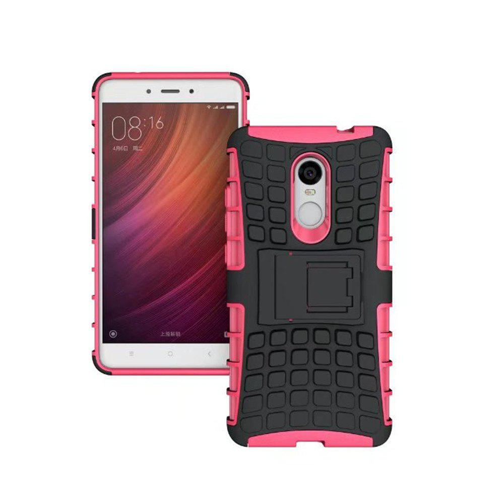 Rugged Spider Armor Heavy Duty Hybrid TPU Silicone Stand Impact Cover for Xiaomi RedMi Note 4 Case - ROSE RED