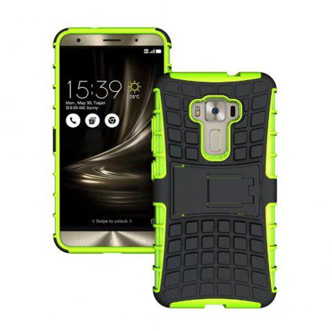 Rugged Spider Armor Heavy Duty Hybrid TPU Silicone Stand Impact Cover for Zenfone 3 ZE520 KL Case - GREEN