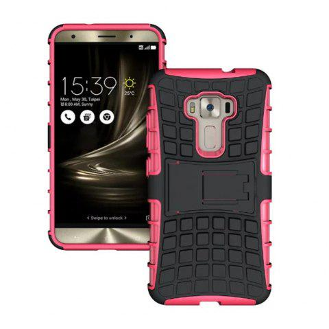 Rugged Spider Armor Heavy Duty Hybrid TPU Silicone Stand Impact Cover for Zenfone 3 ZE520 KL Case - ROSE RED