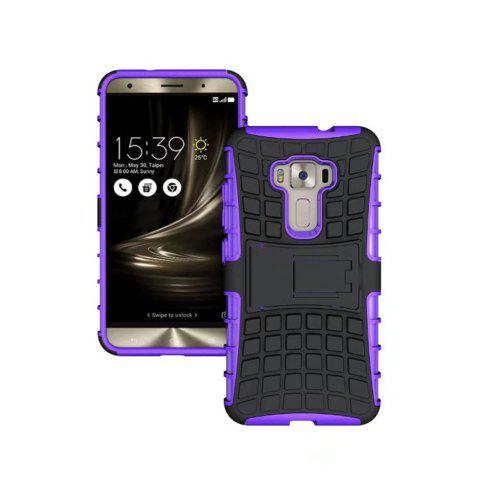 Rugged Spider Armor Heavy Duty Hybrid TPU Silicone Stand Impact Cover for Zenfone 3 ZE520 KL Case - PURPLE