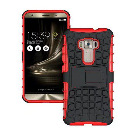 Rugged Spider Armor Heavy Duty Hybrid TPU Silicone Stand Impact Cover for Zenfone 3 ZE520 KL Case - RED