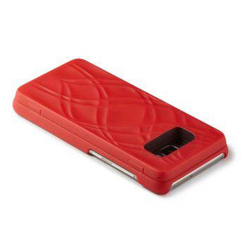 Luxury Mirror Flip Phone Cover for Samsung Galaxy S8 Plus Case Girl - RED