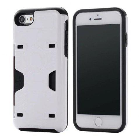 Luxury Heavy Duty Protection Dirt Proof Strong PC and TPU Phone Case for iPhone 7 / 8 - WHITE