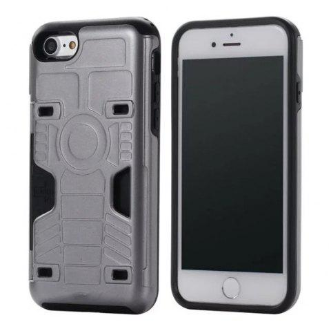 Luxury Heavy Duty Protection Dirt Proof Strong PC and TPU Phone Case for iPhone 7 / 8 - GRAY
