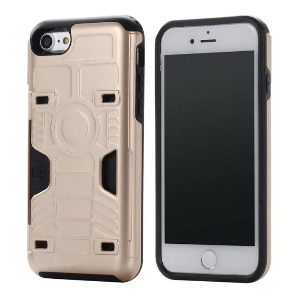 Luxury Heavy Duty Protection Dirt Proof Strong PC and TPU Phone Case for iPhone 7 / 8 - GOLDEN