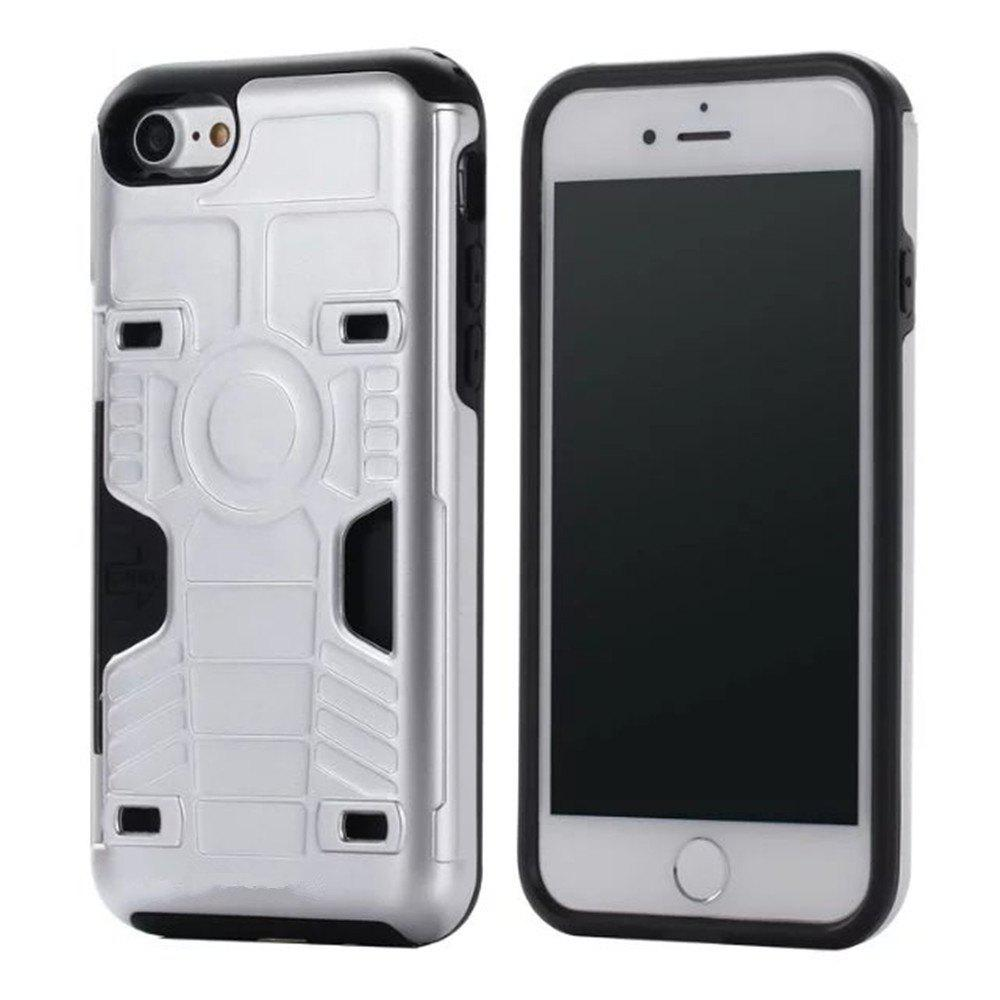 Luxury Heavy Duty Protection Dirt Proof Strong PC and TPU Phone Case for iPhone 7 / 8 - SILVER