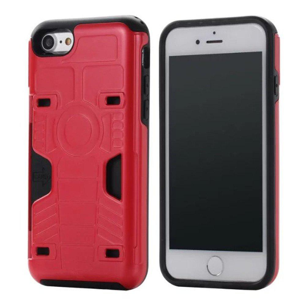 Luxury Heavy Duty Protection Dirt Proof Strong PC and TPU Phone Case for iPhone 7 / 8 - RED