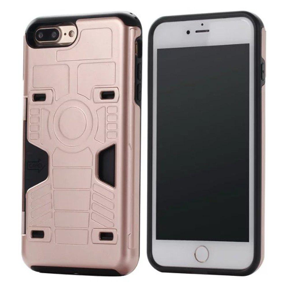 Luxury Heavy Duty Protection Dirt Proof Strong PC and TPU Phone Case For iPhone 7 Plus / 8 Plus - PINK
