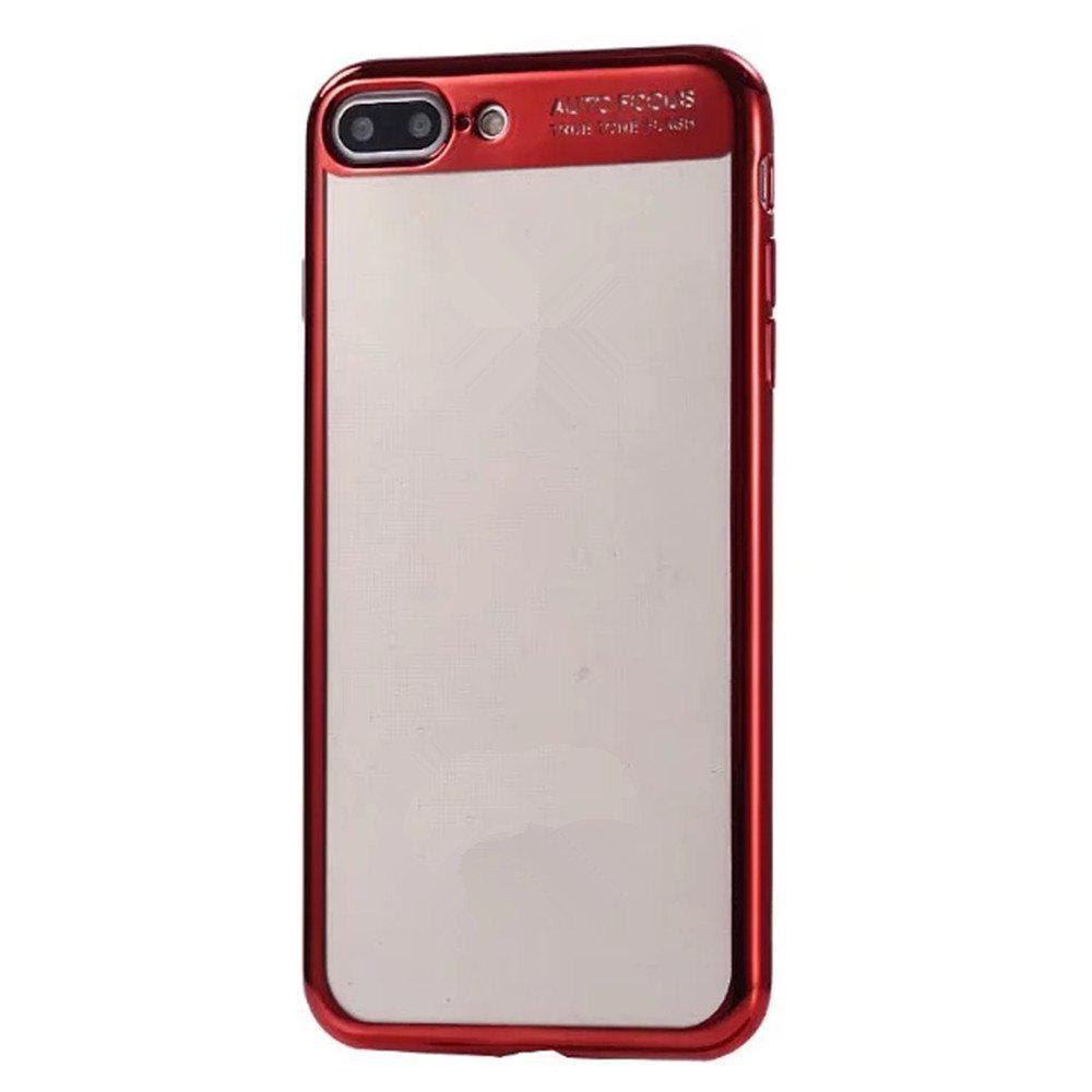 Electroplating Tpu Mobile Phone Protection Shell for iPhone 7 Plus / 8 Plus - RED