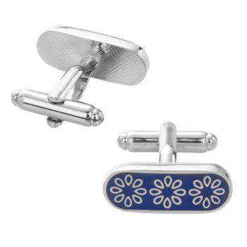 Flower Cuff Links Top Quality Lawyer Groom Wedding Cufflinks Shirt Cuffs -  BLUE