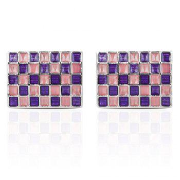 Customized Wedding Anniversary Classic Personalized Cuff-Links for Men - VIOLET