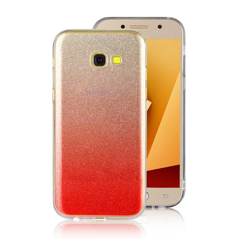TPU Translucent Flash Shell for Samsung Galaxy A7 2017 - RED