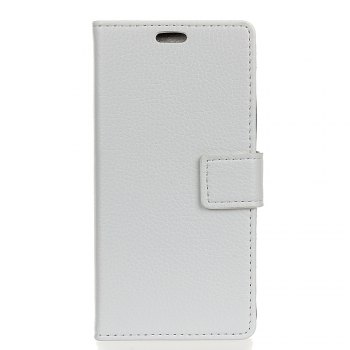 Litchi Pattern PU Leather Wallet Case for LG V30 - WHITE WHITE