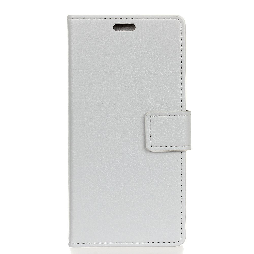 Litchi Pattern PU Leather Wallet Case for MOTO G6 - WHITE