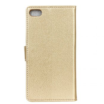 Litchi Pattern PU Leather Wallet Case for Xiaomi 6 Plus - GOLDEN