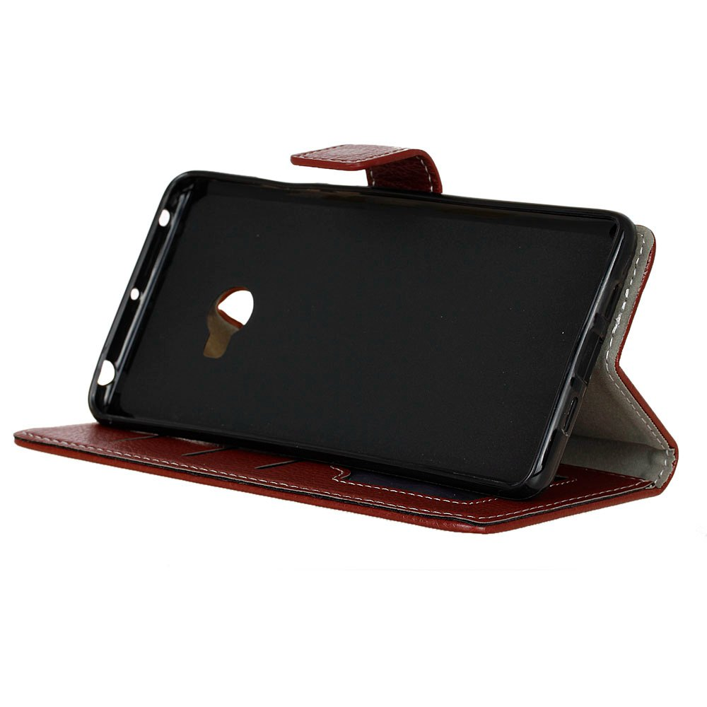 Litchi Pattern PU Leather Wallet Case for Xiaomi Note 2 - BROWN