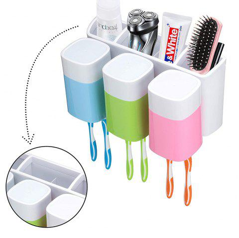 Toothbrush Holder Wall Cups  Storage Set - COLORFUL