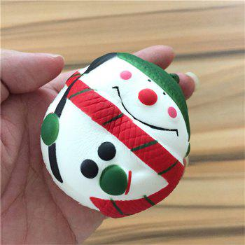 Stress Reliever Snowman Super Slow Rising Kids Toy - COLORMIX