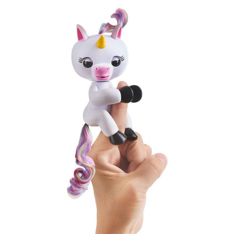 Finger Unicorn Interactive Glitter Toy for Kids - WHITE