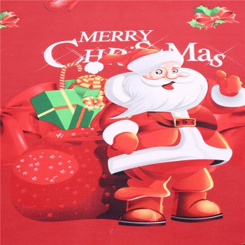 3D Cartoon Bedding Sets Merry Christmas Gift Santa Claus Bedclothes Duvet Quilt Cover Bed Sheet 2 Pillowcases - RED KING