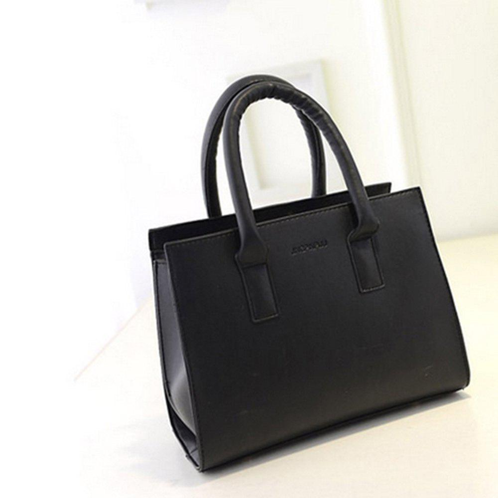 Women's Handbag Solid Color Roomy Women's Bag - BLACK
