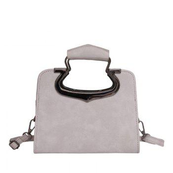 Women's Handbag Fashion Vintage Solid Versatile Casual Bag - GRAY GRAY