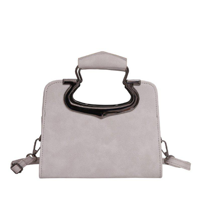 Women's Handbag Fashion Vintage Solid Versatile Casual Bag - GRAY