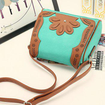 Women's Crossbody Bag Retro Mori Girl Style Floral Patchwork Bag -  GREEN
