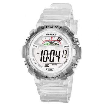 SYNOKE 9388 Waterproof Luminous Multi - Function Child Movement Electronic Watch - WHITE WHITE