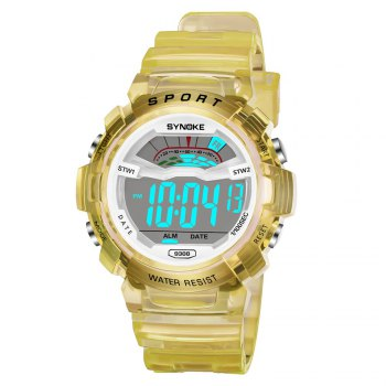 SYNOKE 9388 Waterproof Luminous Multi - Function Child Movement Electronic Watch - YELLOW YELLOW