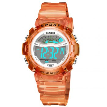 SYNOKE 9388 Waterproof Luminous Multi - Function Child Movement Electronic Watch - ORANGE ORANGE