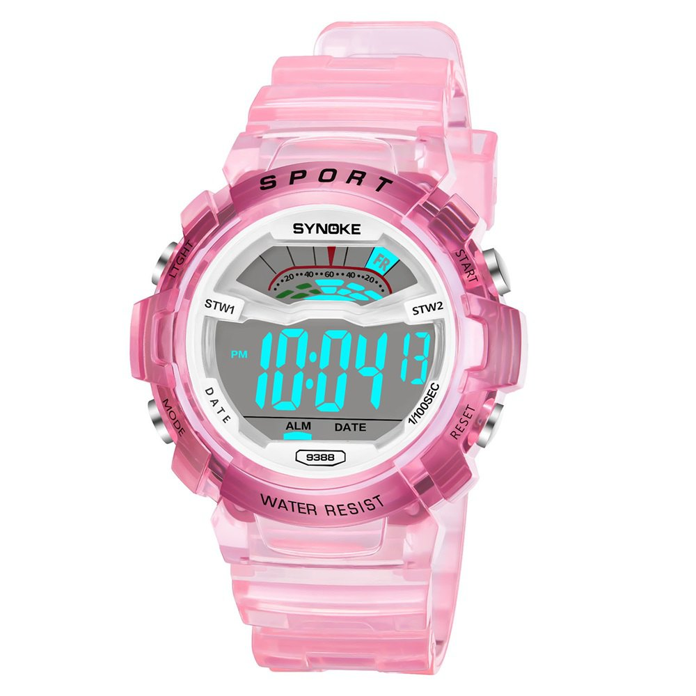 SYNOKE 9388 Waterproof Luminous Multi - Function Child Movement Electronic Watch - PINK FEMALE