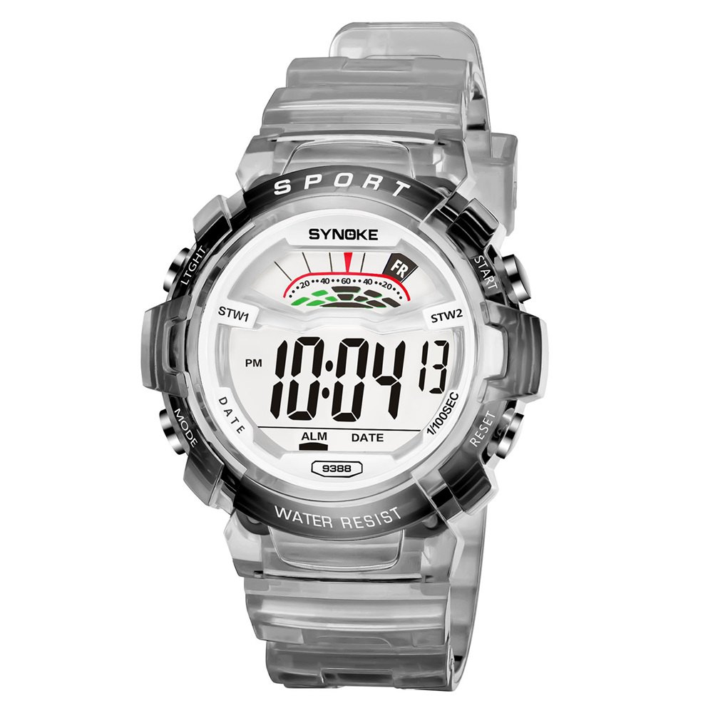 SYNOKE 9388 Waterproof Luminous Multi - Function Child Movement Electronic Watch - GRAY MALE