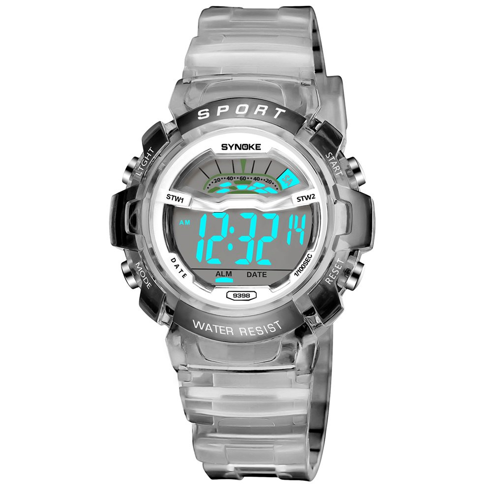 SYNOKE 9388 Waterproof Luminous Multi - Function Child Movement Electronic Watch - GRAY FEMALE