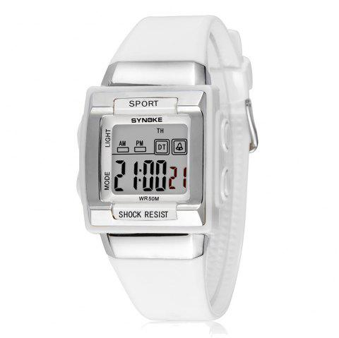 SYNOKE 66188 Youth Multi-function Electronic Watch - WHITE