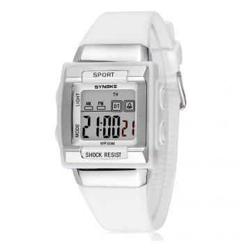 SYNOKE 66188 Youth Multi-function Electronic Watch - WHITE WHITE