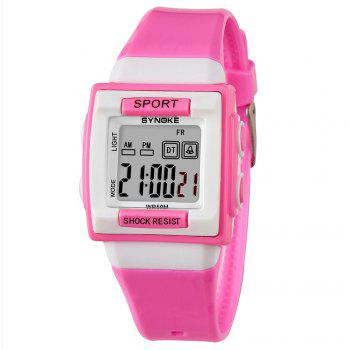SYNOKE 66188 Youth Multi-function Electronic Watch - PINK PINK
