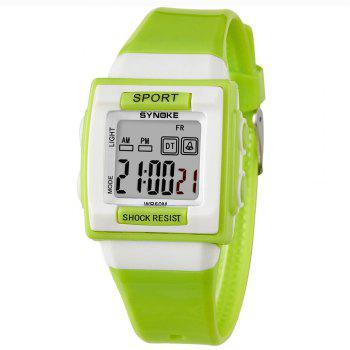 SYNOKE 66188 Youth Multi-function Electronic Watch - GREEN