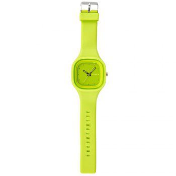 SYNOKE 66895 Sports Waterproof Trend Jelly Couple Watch -  GREEN