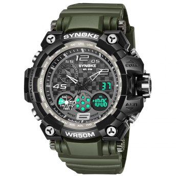 SYNOKE 67386 Trendy Sports Multifunctional Man Watch - ARMYGREEN