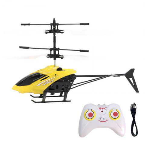 Flashing Light Induction Helicopter Toy for Kids - YELLOW