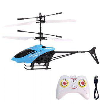 Flashing Light Induction Helicopter Toy for Kids - BLUE BLUE