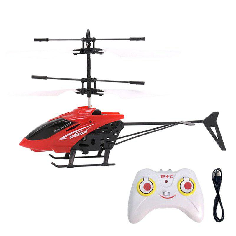 Flashing Light Induction Helicopter Toy for Kids - RED