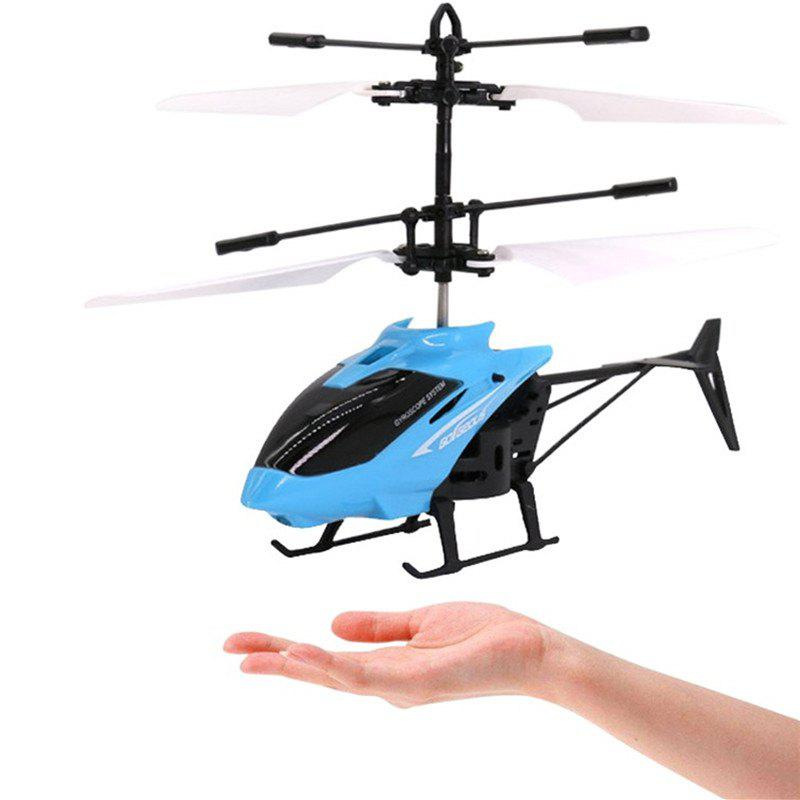 Flashing Light Induction Helicopter Toy for Kids - BLUE