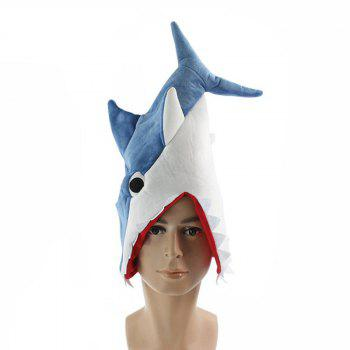 Shark Hat Plush Toy Gift - BLUE BLUE