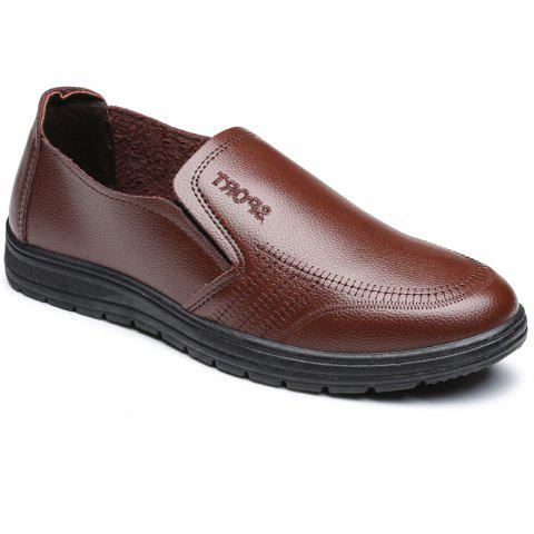Men'S Business Casual Shoes Dad Casual Shoes - BROWN 43