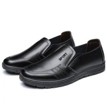 Men'S Business Casual Shoes Dad Casual Shoes - BLACK 39