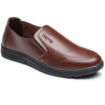 Men'S Business Casual Shoes Dad Casual Shoes - BROWN BROWN